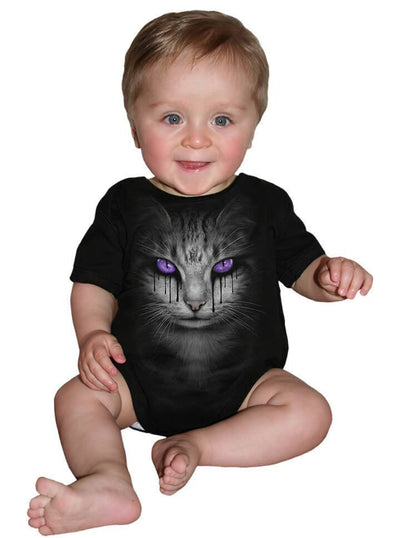 "Infant's ""Cat's Tears"" Onesie by Spiral USA (Black) - www.inkedshop.com"
