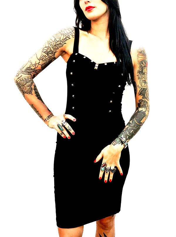 Women's Studded Dagger Dress by Switchblade Stiletto (More Options)