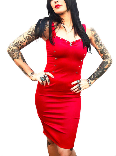 Women's Studded Dagger Dress by Switchblade Stiletto