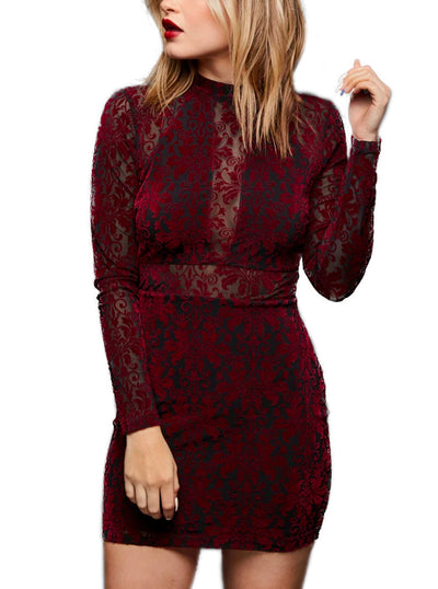 Women's Dark Romance Velvet Dress by Pretty Attitude Clothing