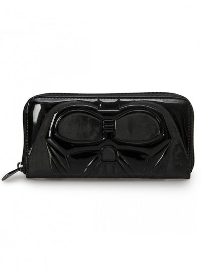 """Star Wars Darth Vader"" Patent Wallet by Loungefly (Black) - www.inkedshop.com"