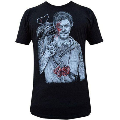 "Men's ""Daryl"" Tee by Black Market Art (Black) - InkedShop - 1"