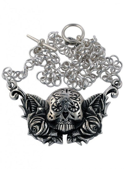 """Day Of The Dead"" Necklace by Femme Metale - www.inkedshop.com"