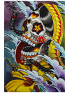 """Day Of The Dead Asian"" Print by Marcos Villa Gran for Black Market Art"