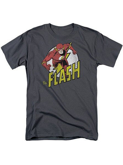 "Men's ""The Flash Run"" Tee by DC Comics (Charcoal) - www.inkedshop.com"