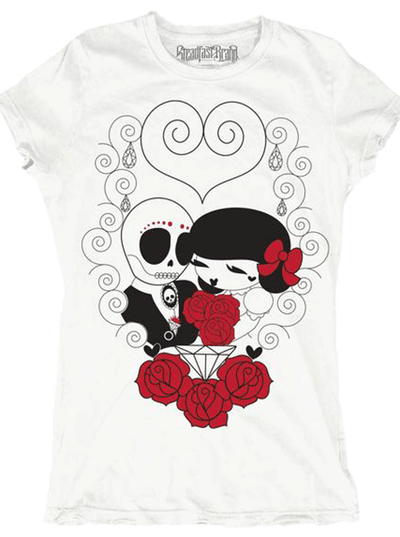 "Women's ""Dead Wed"" Tee by Steadfast Brand (White)"