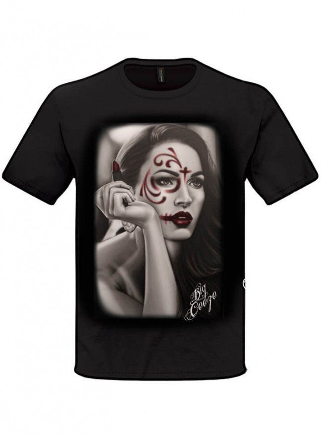 "Men's ""Dead Lipstick"" Tee by Big Ceeze Clothing (Black) - www.inkedshop.com"