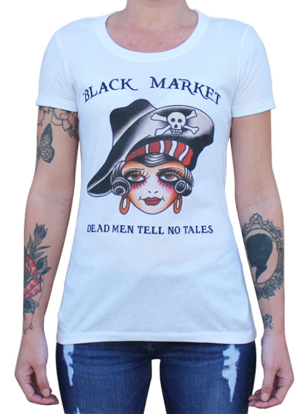 Women's Tell No Tales Tee by Black Market Art