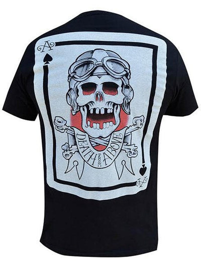 "Men's ""Death From Above"" Tee by Black Market Art (Black) - www.inkedshop.com"