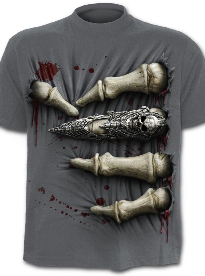 "Men's ""Death Grip"" Tee by Spiral USA (Grey) - www.inkedshop.com"