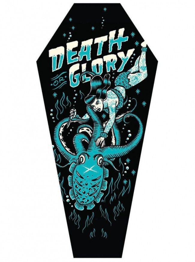 """Death Or Glory"" Canvas Coffin by Adi for Black Market Art Company - www.inkedshop.com"