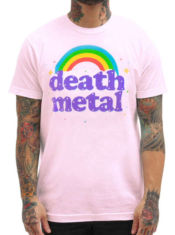 "Men's ""Death Metal"" Tee by Goodie Two Sleeves (Pink)"