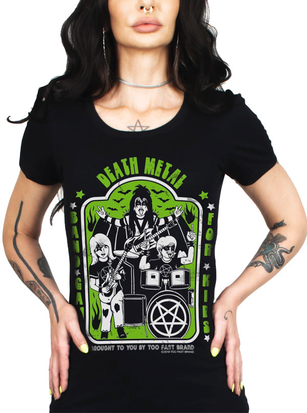 Women's Death Metal Babydoll Tee by Too Fast