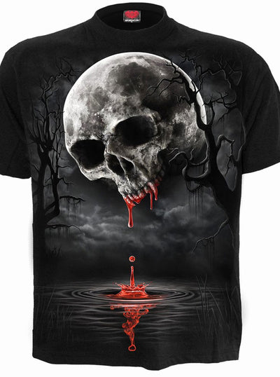Men's Death Moon Tee by Spiral USA (Black)