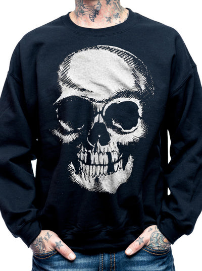 "Men's ""Death Skull"" Sweatshirt by Cartel Ink (Black)"