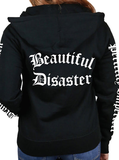 Women's Defined Zip Hoodie by Beautiful Disaster