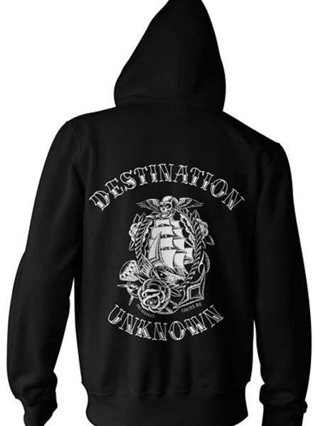 "Unisex ""Destination Unknown"" Zip-Up Hoodie by Cartel Ink (More Options) - www.inkedshop.com"