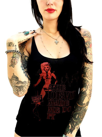 Women's The Devil Made Me Do It Tank by Gypsy Treasures