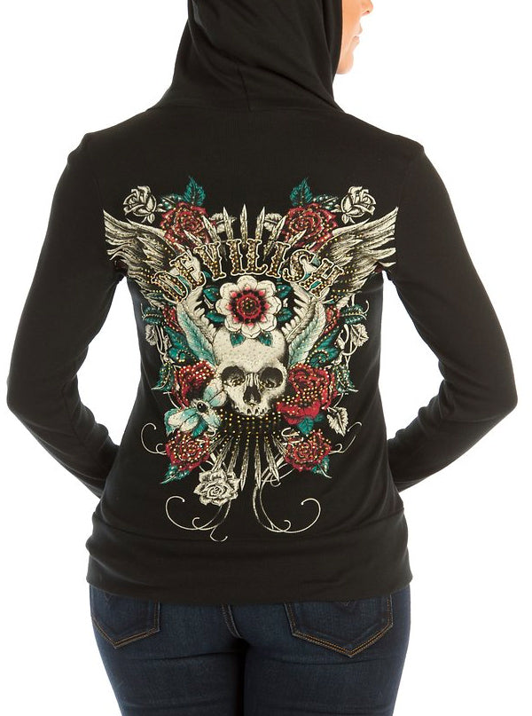 Women's Devilish Hoodie by Liberty Wear