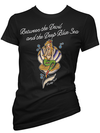 "Women's ""Deep Blue Sea"" Tee by Pinky Star (Black) - www.inkedshop.com"