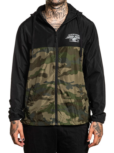 Men's Division Jacket by Sullen (Black/Camo)