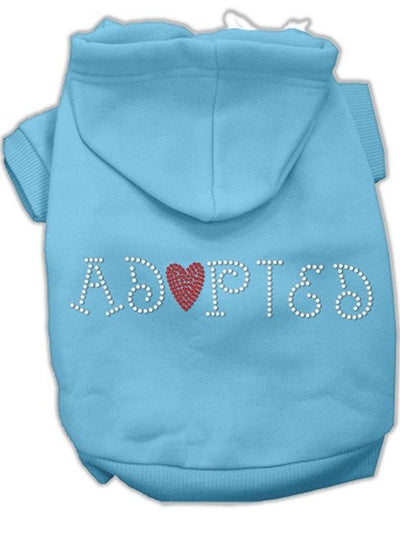 """Adopted"" Dog Hoodie by Mirage Pet Products (Black) - www.inkedshop.com"
