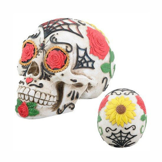 """Day of The Dead"" Tattoo Sugar Skull by Summit Collection - InkedShop - 1"