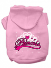 """Princess"" Dog Hoodie by Mirage Pet Products (Pink) - www.inkedshop.com"