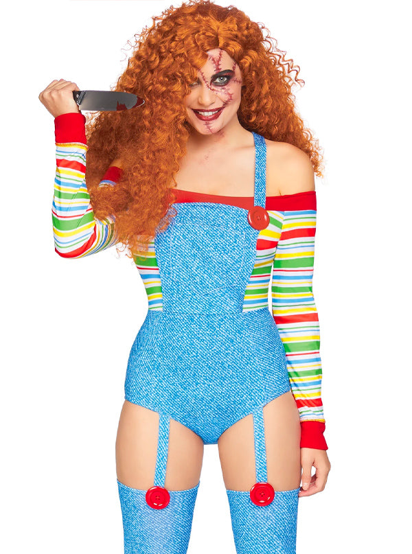 Women's Killer Doll Costume by Leg Avenue (Blue)