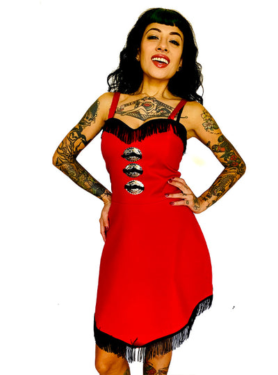 Women's Dolly Concho Fringe Dress by Switchblade Stiletto