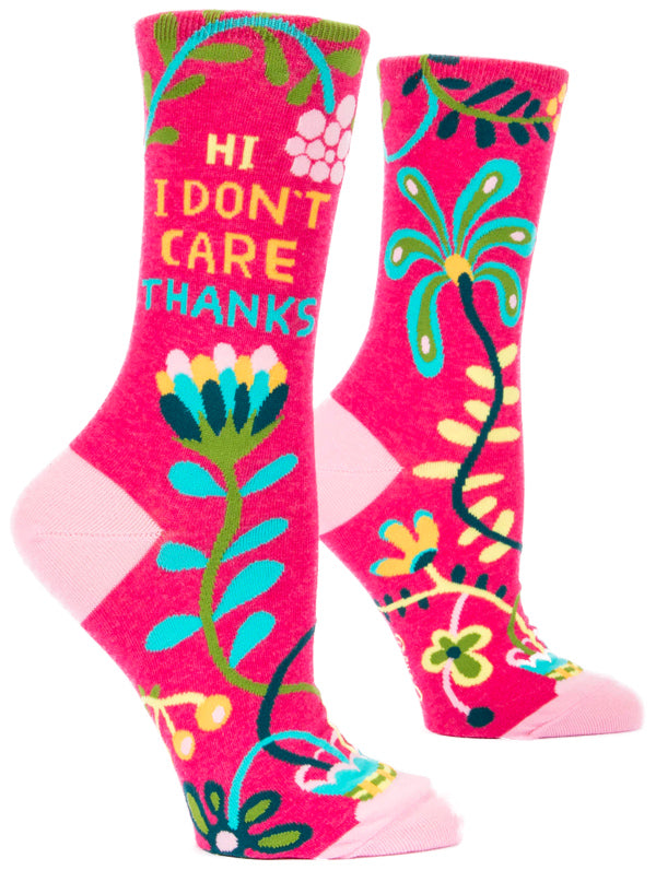 Women's Don't Care, Thanks Crew Socks