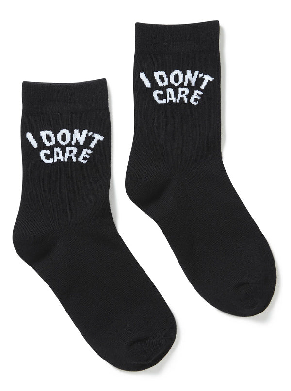 Don't Care Ankle Socks by Killstar