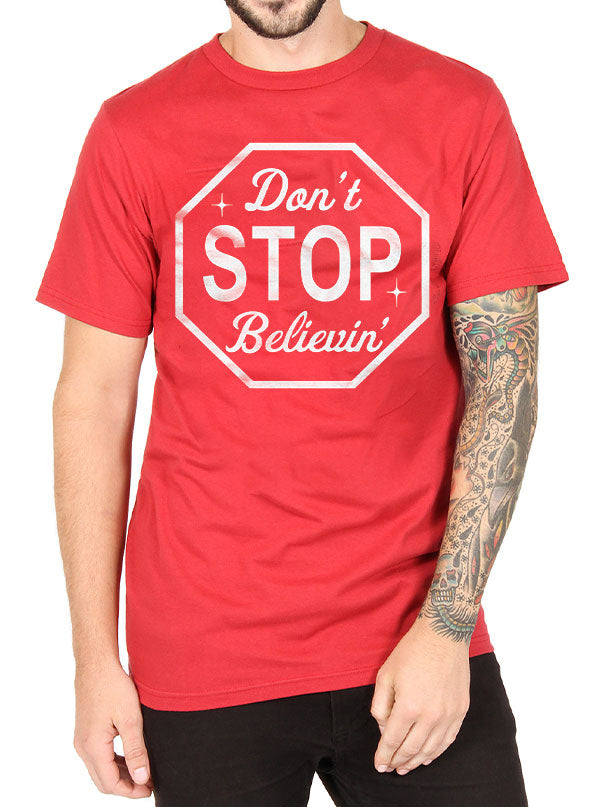 Men's Don't Stop Believin Tee by Cartel Ink