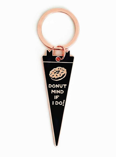 Donut Mind If I Do Keychain by Pyknic