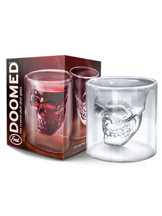 """Doomed Skull"" Shot Glass - www.inkedshop.com"