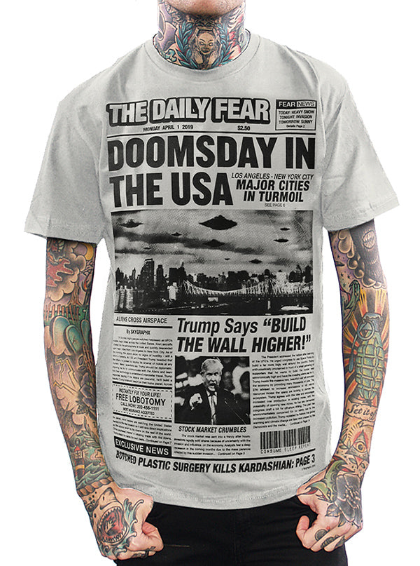 Men's Doomsday In The USA Tee by Skygraphx