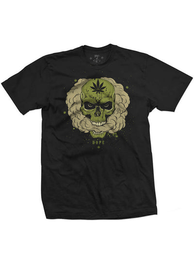 Men's Dope Skull Tee by 7th Revolution (Black)