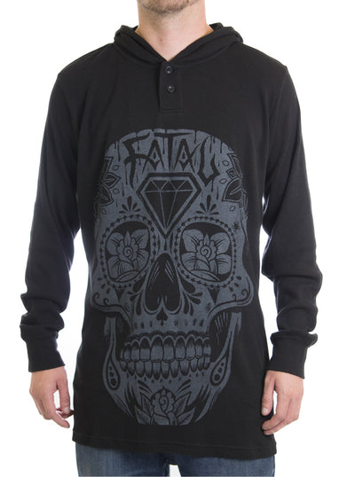 Men's Day of the Dead Hooded Thermal by Fatal Clothing