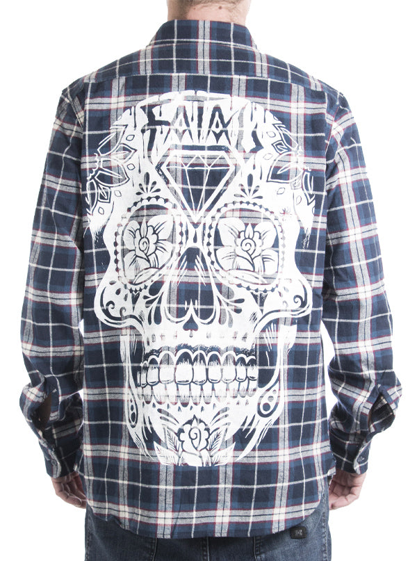 "Men's ""DOTD"" Flannel by Fatal Clothing (Blue)"