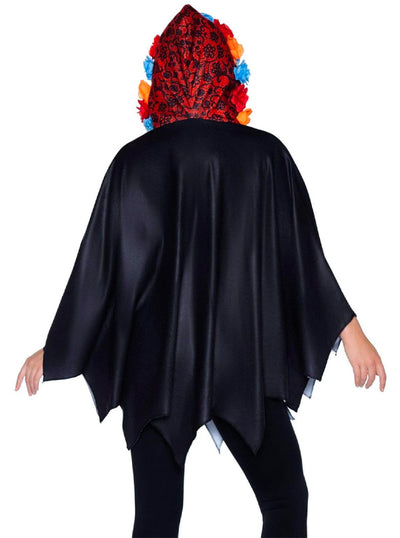 Women's Day of the Dead Poncho by Leg Avenue
