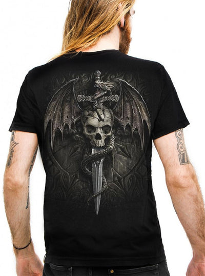 "Men's ""Draco Skull"" Tee by Spiral USA (Black)"