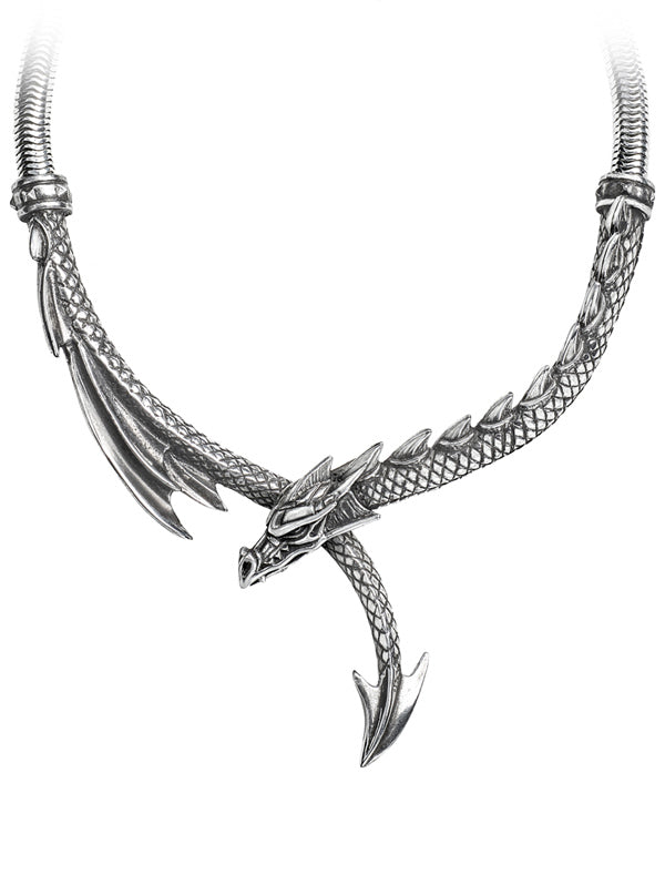 """Dragons Lure"" Necklace by Alchemy of England (Silver)"