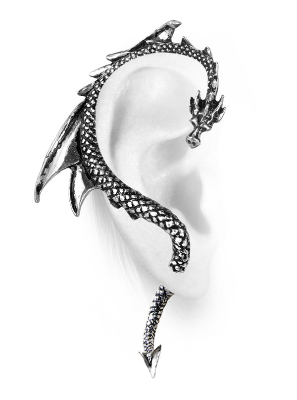"The ""Dragon's Lure"" Ear Wrap by Alchemy of England (Silver)"