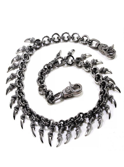 Men's Medieval Dragon Claw Wallet Chain by Wicked Steel