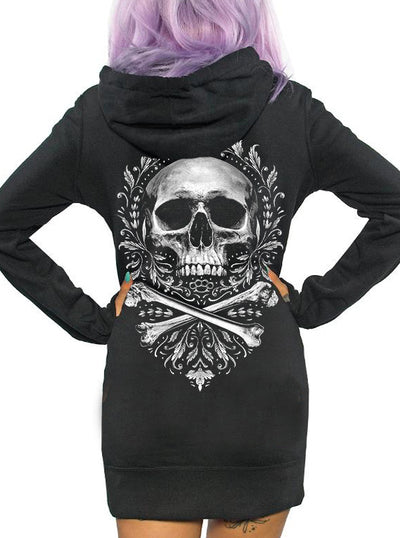 Women's Flourish of Death Hoodie Dress by Skygraphx