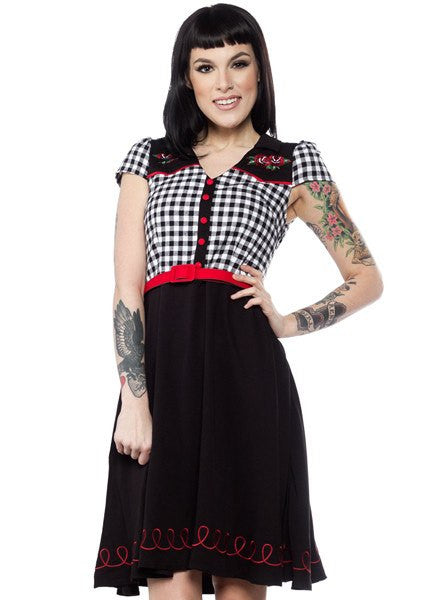 Women 39 s friday the 13th vavavoom dress by sourpuss for 13th floor tattoo shop