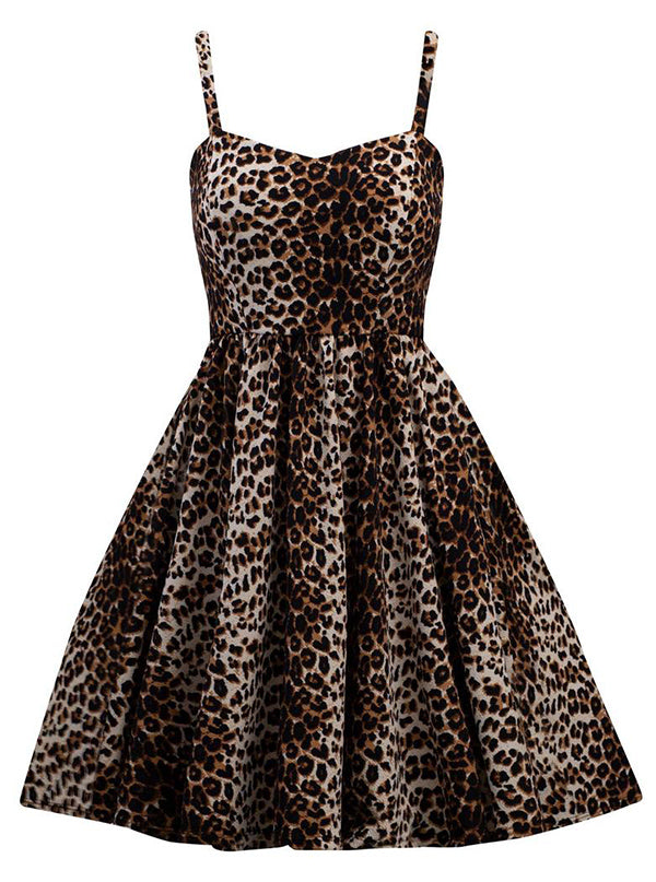 Women's Leopard Bombshell Dress by Double Trouble Apparel