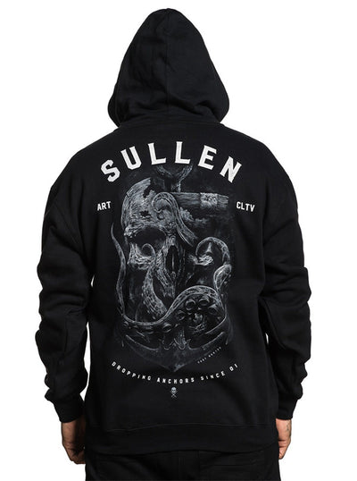 "Men's ""Dropping Anchors"" Zip Hoodie by Sullen (Black)"