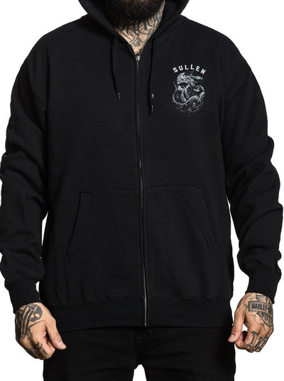 Men's Dropping Anchors Zip Hoodie by Sullen