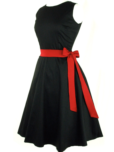 "Women's ""Classic"" Full Circle Dress by Hemet (Black) - www.inkedshop.com"